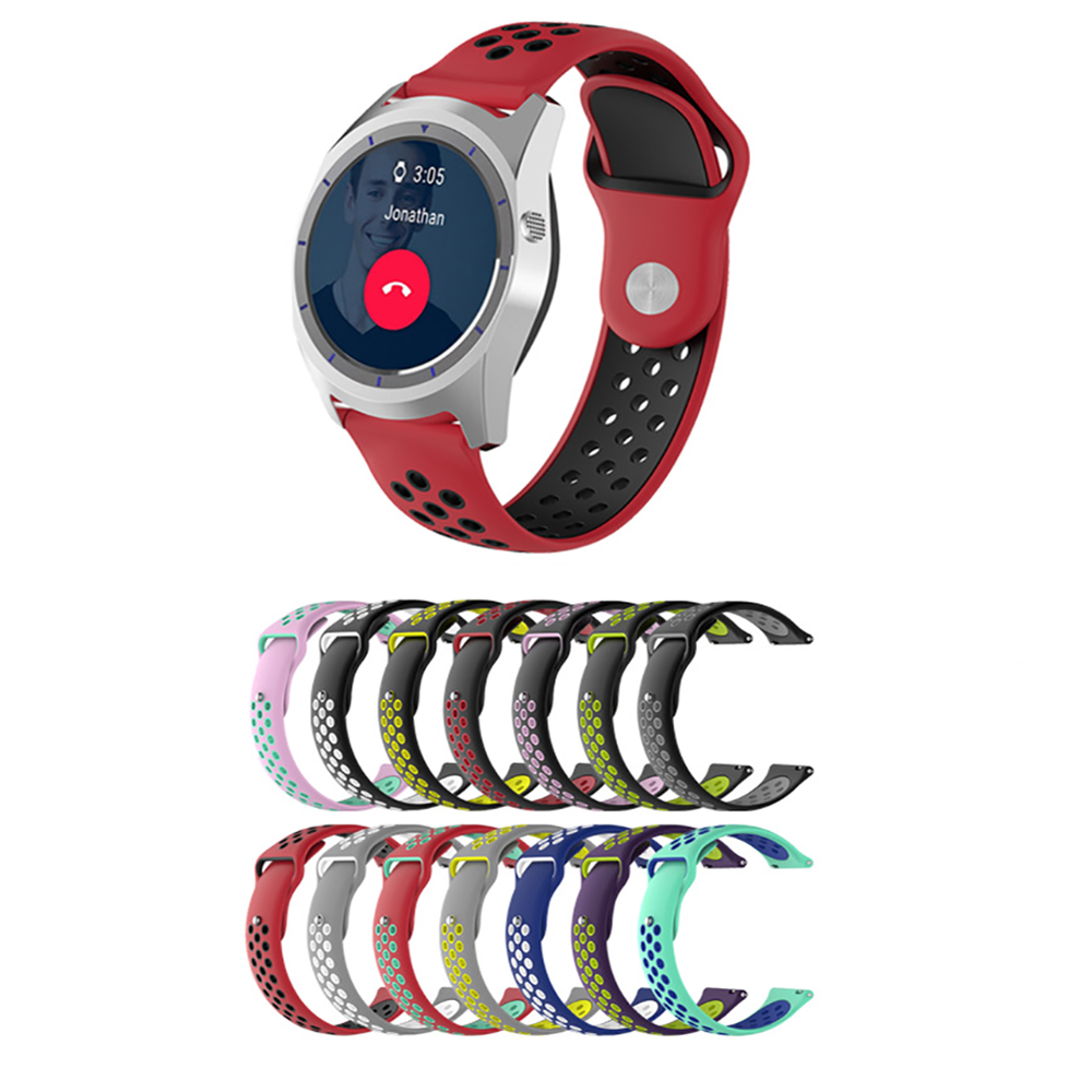 Two-color High Quality Silicone Watchband For Fossil Gen 4 Q Explorist HR / Gen 3 Q Explorist Watch Band Wrist Strap Bracelet