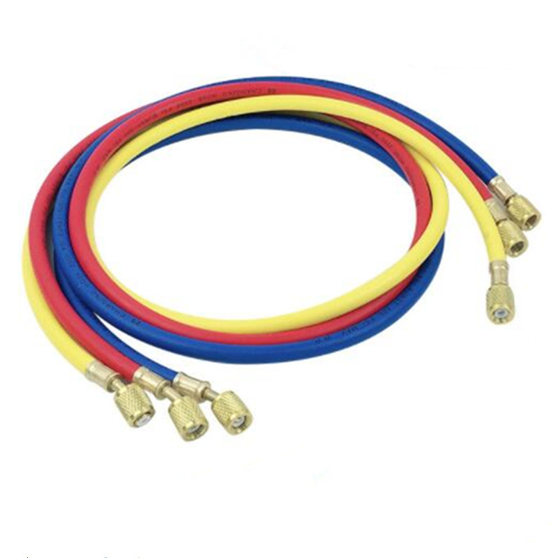 Automotive A/C Air Conditioning R134a R22 R410a Refrigeration Add Fluoride Tube 1.5M Three Colors Freon Pipe
