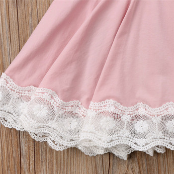 Lace Geometry Dress For Girls 3