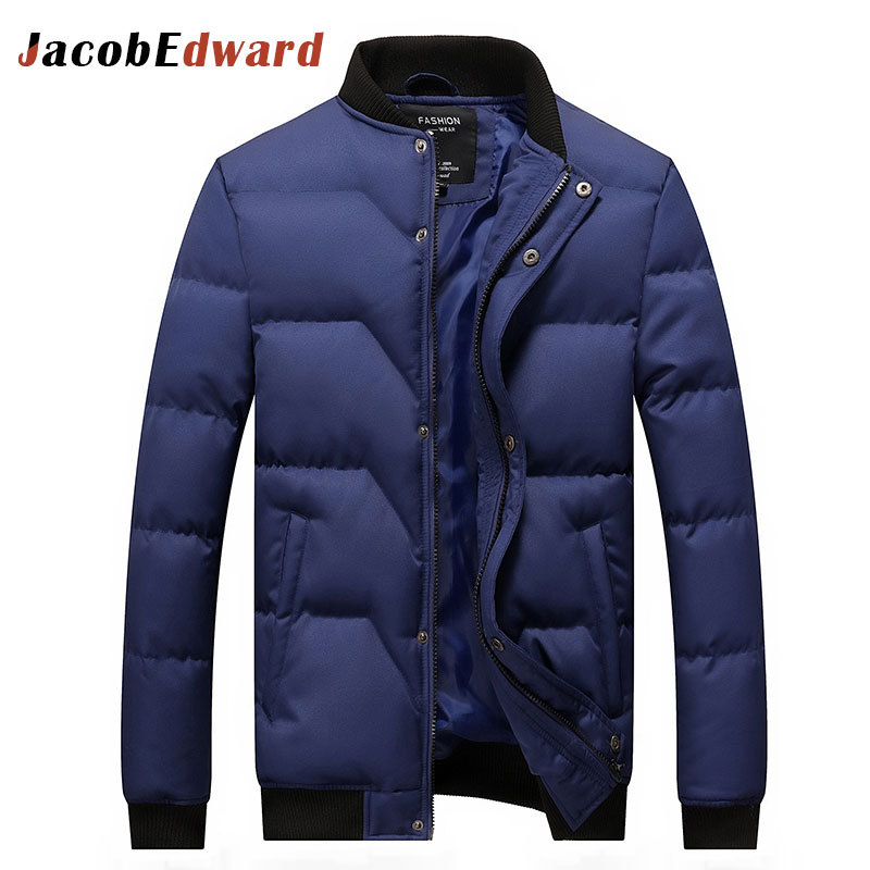 Black Winter Coat Men 2016 Fashion Casual Men Winter Jacket Thick Warm Brand Clothing Long Sleeve