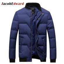 Black Winter Coat Men 2016 Fashion Casual Men Winter Jacket Thick Warm Brand-Clothing Long Sleeve Slim Fit Overcoats Jacket Coat