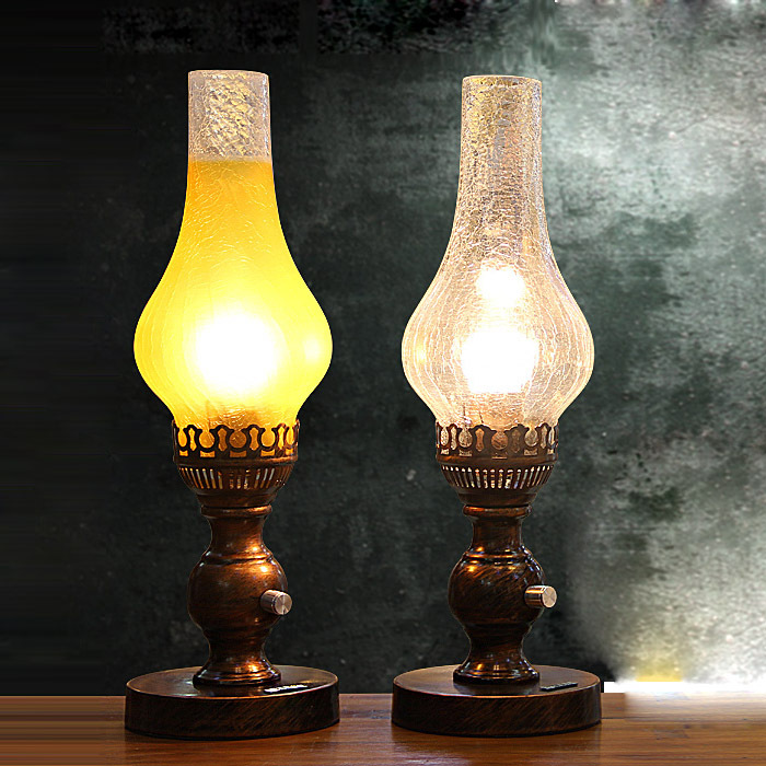 Commercial Table Lamps: Vintage Crack Glass Restaurant Dimmer Switch Table Lights