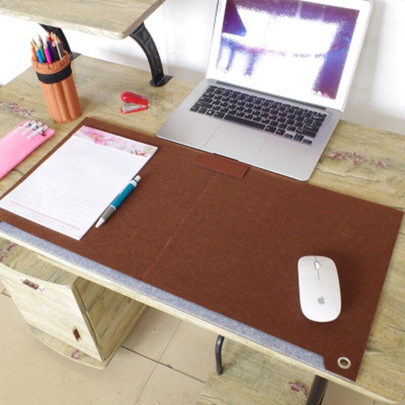 HHD-GJ Origin Fashion Computer Desk Mat Modern Table Felt Office Desk Mat Mouse Pad Pen Holder Wool Felt Laptop Cushion Desk Pad