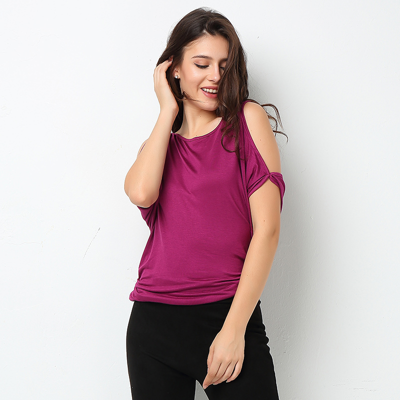 HTB1oNJuSFXXXXawaXXXq6xXFXXXH - T-shirt Batwing Sleeve Off Shoulder Solid cotton cotton tee