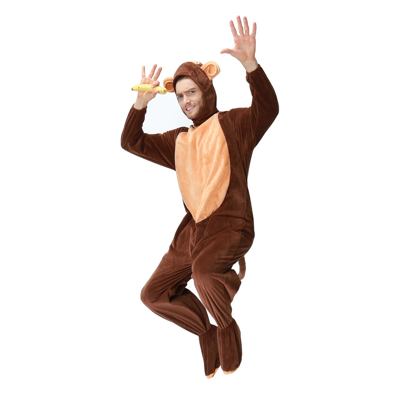 Women's Costumes Responsible Animals Monkey Costume Adult Girl Kids Monkey Onesie Flannel Women Anime Jumpsuit Disguise Cosplay Onesies Halloween Carnival At Any Cost Novelty & Special Use