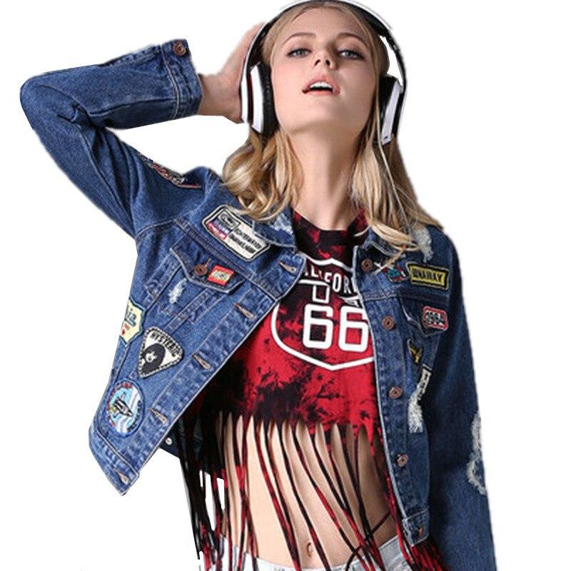 2017 Spring Autumn font b Women b font Short Jean font b Jacket b font Coats