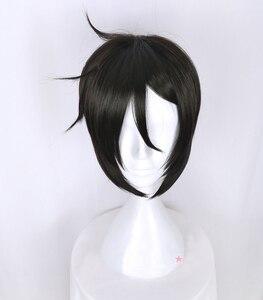 Image 2 - Kuroshitsujiดำบัตเลอร์เซบาสเตียนMichaelisสั้นสีดำแต่งกายคอสเพลย์วิกผมทนความร้อนไฟเบอร์ผม+ฟรีวิกผมหมวก