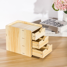 Wooden Boxes with Drawers Divider Desktop Organizer