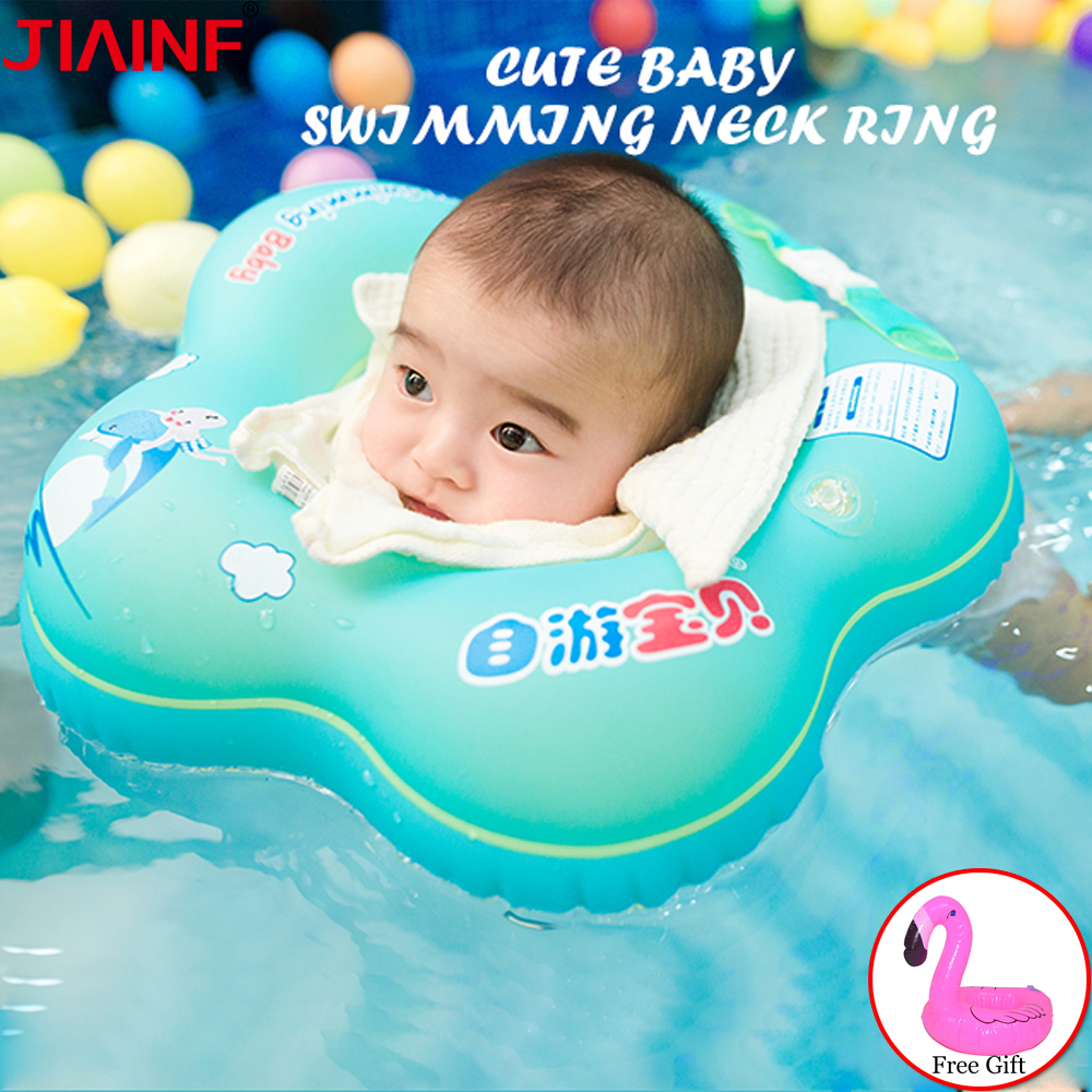 Baby Swimming Neck Ring Baby Swim Float Ring Swimming Baby Accessories Neck Ring Tube Drop Safety Infant Circle For Bathing