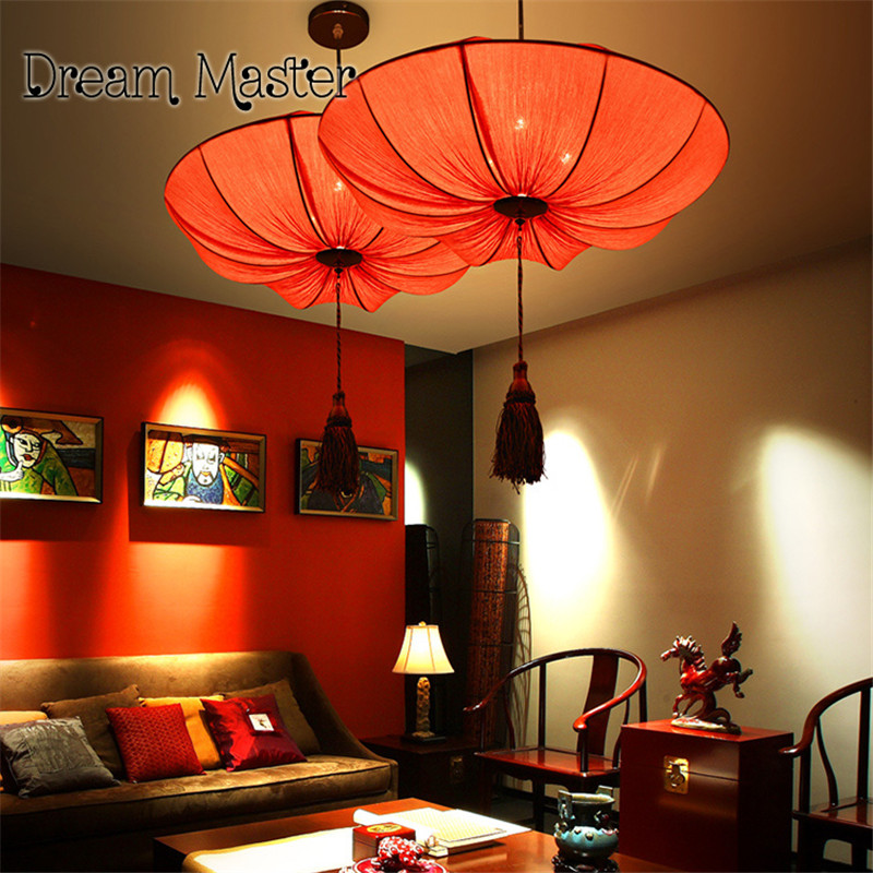 New Chinese style chandelier antique art living room restaurant hot pot shop aisle cloth lotus lamp ps2 to xbox 360 controller adapter cable