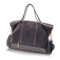 Suede Bag Brand Fashion Female Shoulder Bag High Quality Split Leather Cosmeti Totes Retro Large Capacity