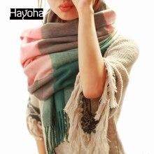 190*60 CM Moda Lã Inverno Cachecol Mulheres Bandana Xadrez Grosso Cachecol Xales e Lenços Da Marca para As Mulheres(China (Mainland))