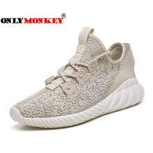 ONLYMONKEY Super Breathable Men Vulcanize Shoes Lace Up Comfortable Men and Women Sneakers Big Size 36-46 Casual Shoes Men