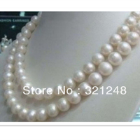 Newly 8 9mm fashion white akoya cultured lovely pearl diy charms necklace making 36'' GE1160