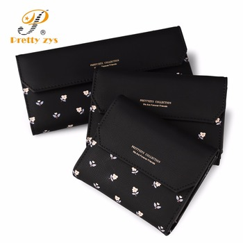 Skórzane portfele w kwiatki 3 ROZMIARY
