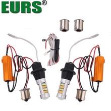 Eurs 1156 7440 42smd водить мотоцикл Барк сигналы обратной лампы 12 В автомобилей дневного Бег поворота Сигнальные лампы двойной цвет