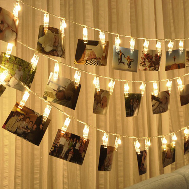 Newest 3M PVC 20 LEDs Photo Clips String Lights Wedding Party Christmas Indoor Home Decor -- JD9