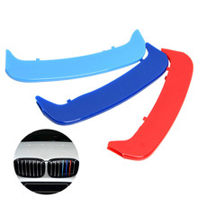 hot deal buy car 3d front grille trim sport strips cover stickers for bmw 3 series e46 saloon coupe m3 auto exterior accessories