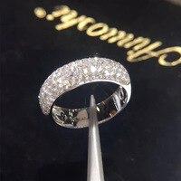 ANI 14K White Gold (AU750) Wedding Women Rings Certified I J/SI 1.278 CT Round Cut Diamond Valentines Promise Ring Wedding Band