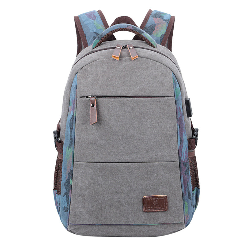 2018 Fashion USB Charging Men's Backpack Female Canvas Laptop Computer Bag high school student college student bag Travel Bags new stage effect mini laser light red disco laser effect projector light show system equipment for dj party ktv