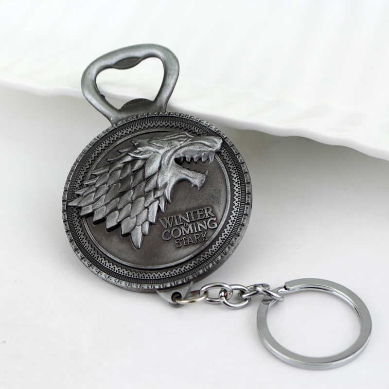 Nuevo Juego de tronos abrebotellas llavero Juego de Tronos: Casa Stark Winter viene llavero y abridor de botellas