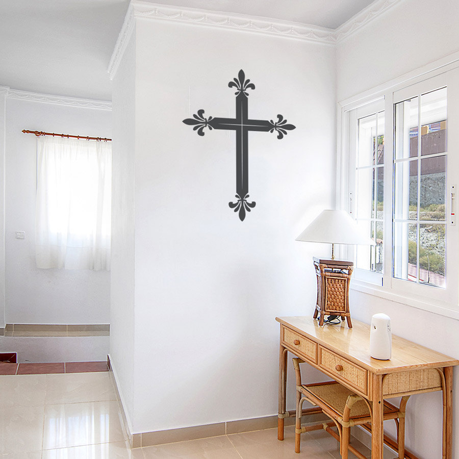 online get cheap religious wall art aliexpress com alibaba group latin cross wall decal sticker religious wall art decor for living room china