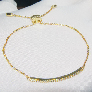 Image 3 - SLJELY 925 Sterling Silver Fashion Elegant Zircon Pink Rose Gold Color Bracelet Adjustable Chain for Women Party Banquet Jewelry