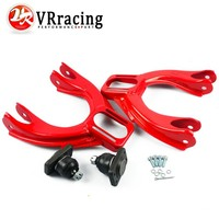 VR RACING Adjustable (L&R) Front Upper Control Arm Camber Kit For HONDA CIVIC EG 92 95 RED FRONT UPPER CAMBER ARM KIT VR9872R