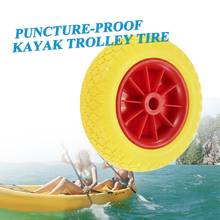 1Pc 8/10 Inch  Puncture-Proof Tire Wheel For Kayak Canoe Trolley Cart Replacement Transport Trailer Removable Wheels