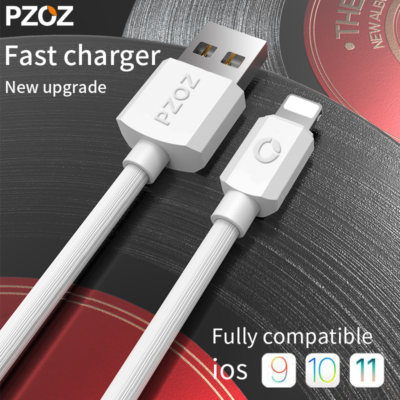 Pzoz Fast Charging Usb Cable For iphone Xs Max Charger Sync