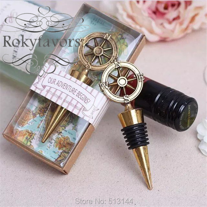 aliexpresscom buy free shipping 100pcs nautical theme compass wine stopper wedding favors bridal shower ideas beach party bottle opener from reliable