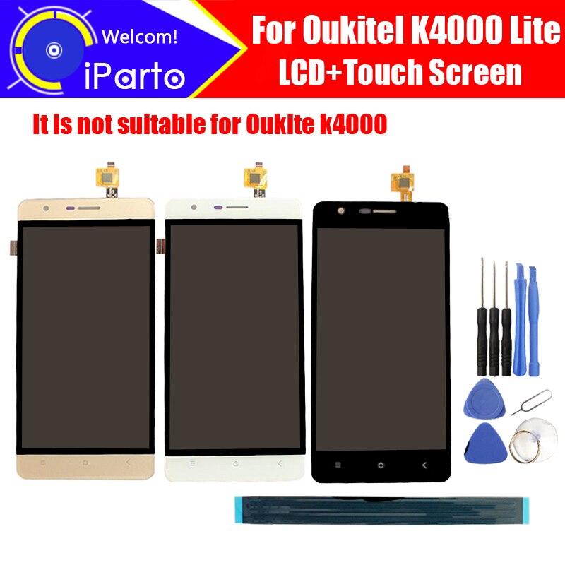 5.0 ''Oukitel K4000 Lite LCD Display + Écran Tactile Digitizer 100% Original LCD Écran Assemblée Panneau de Verre Pour K4000 Lite