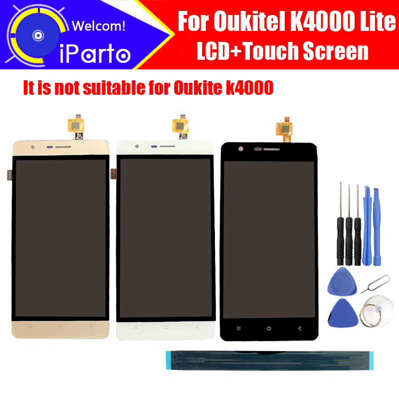 5.0'' Oukitel K4000 Lite LCD Display+Touch Screen Digitizer 100% Original LCD Screen Glass Panel Assembly For K4000 Lite