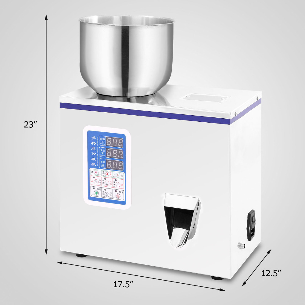 110V 220V 2 100g Small Automatic Particle Subpackage Device Weighing Filling Machine