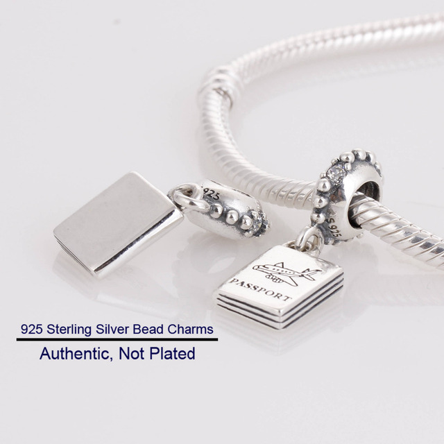 Fits For Pandora Bracelets Passport Charms Sterling Silver - Service invoice template free word pandora store online