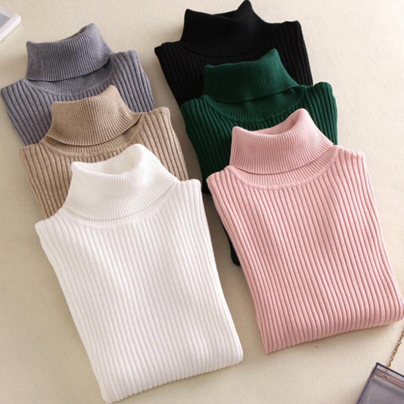 2020 Fashion Turtleneck Women sweater high elastic Solid sweater women slim sexy tight Bottoming Knitted Pullover CZ246