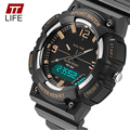 TTLIFE Brand 734 Watches Mens Water Resistant For Sports Popular LED Dual Display Digital Wristwatches Male Cool Back Lighting