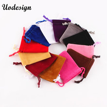 10PCS lot 5*7CM New Arrival Velvet Black Wedding&Festival Gift Bags Pouches Fit Jewelry Decoration&Packaging