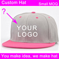 custom snap back cap full close trucker hat fishing football flat brim low moq free sample