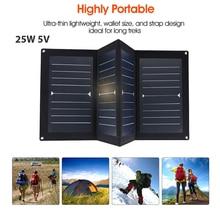 BCMaster 25W 5V USB Solar Panel Folding Solar Pane Emergency Power Supply Portable Outdoor  Solar Charging