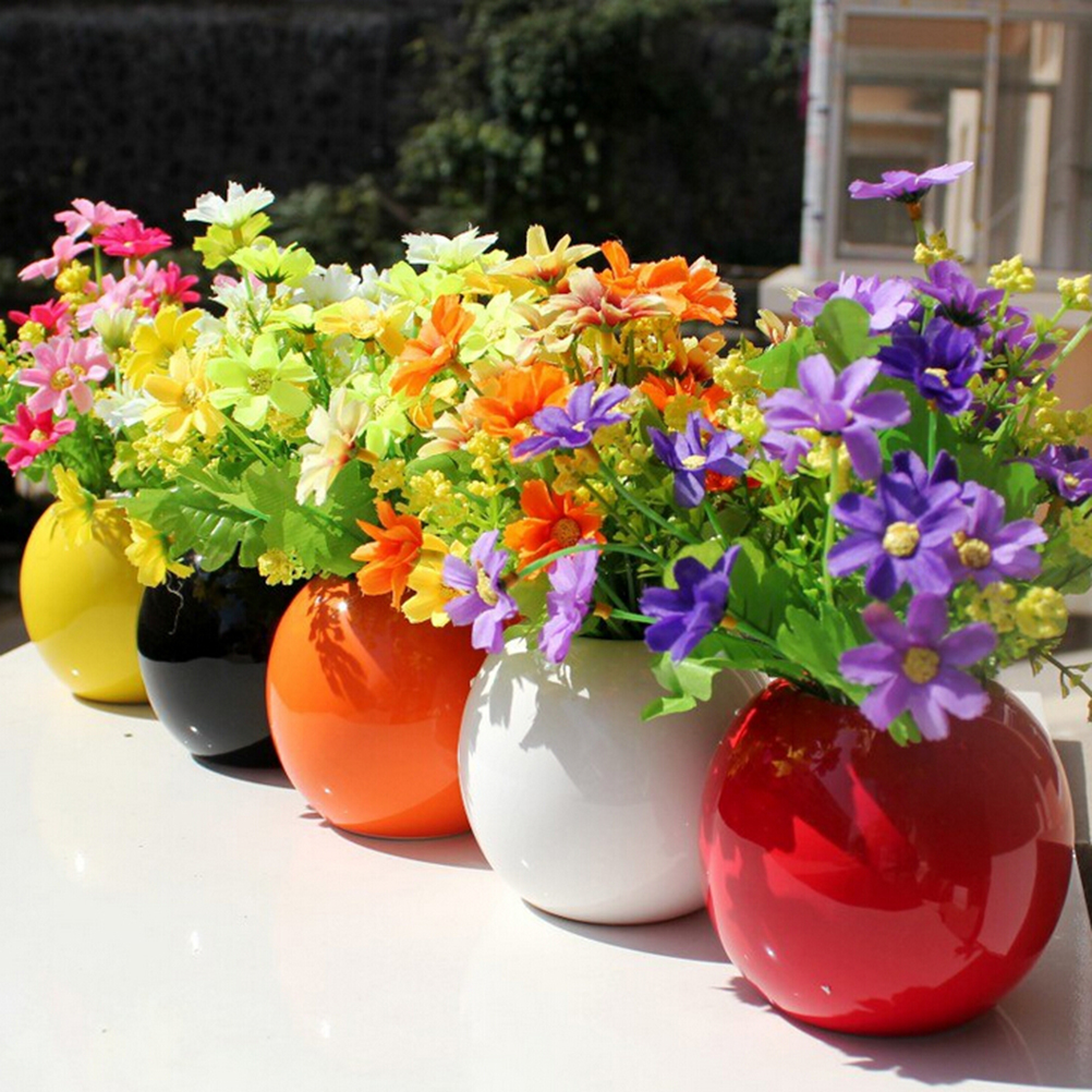 Us 1 15 17 Off Cute Silk Daisy Artificial Decorative Flower Wedding Flower Bouquet Home Room Table Decoration 28 Heads Bouquet In Party Diy
