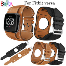 comfort Leather Sport strap For Fitbit versa Replacement new fashion Smart Fitness wrist Watch Band With Stainless Watch buckle все цены