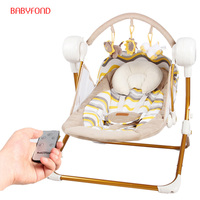 Free ship!Electric baby swing music rocking chair automatic cradle baby sleeping basket placarders chaise Bluetooth send gifts