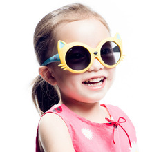 Дети девочки мальчик Автомобильный увлажнитель мультяшная кошка анти UV400 Солнцезащитные очки для малышей младенцев солнцезащитные очки товары для детской вечеринки