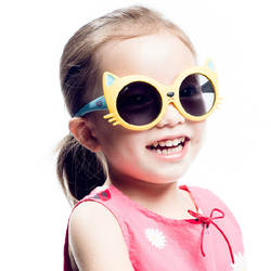 2018 детские для мальчиков и девочек 8 цветов Кот Anti UV400 Зонт очки одежда для малышей младенцев солнцезащитные очки товары для детской