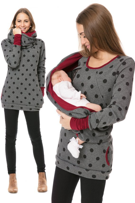 Breastfeeding Hooded Tops T Shirt Autumn Lactation Clothing For Pregnant Women