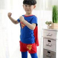 100 Cotton Band 3 8 Yrs Summer Children S Clothing Set T Shirt Pants Cloak Suit