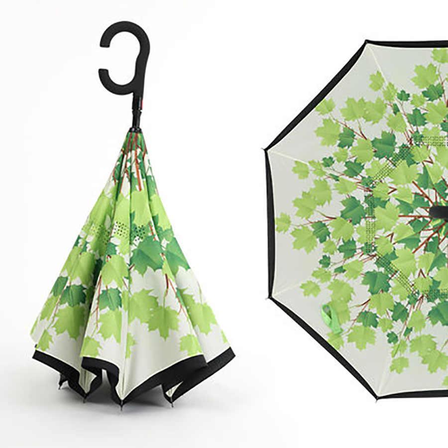 Зонтик с длинной ручкой дождь для женщин УФ Защита Автоматический зонтик для защиты от ветра дети Солнечный зонтик Paraguas домашний дождевик WZP033