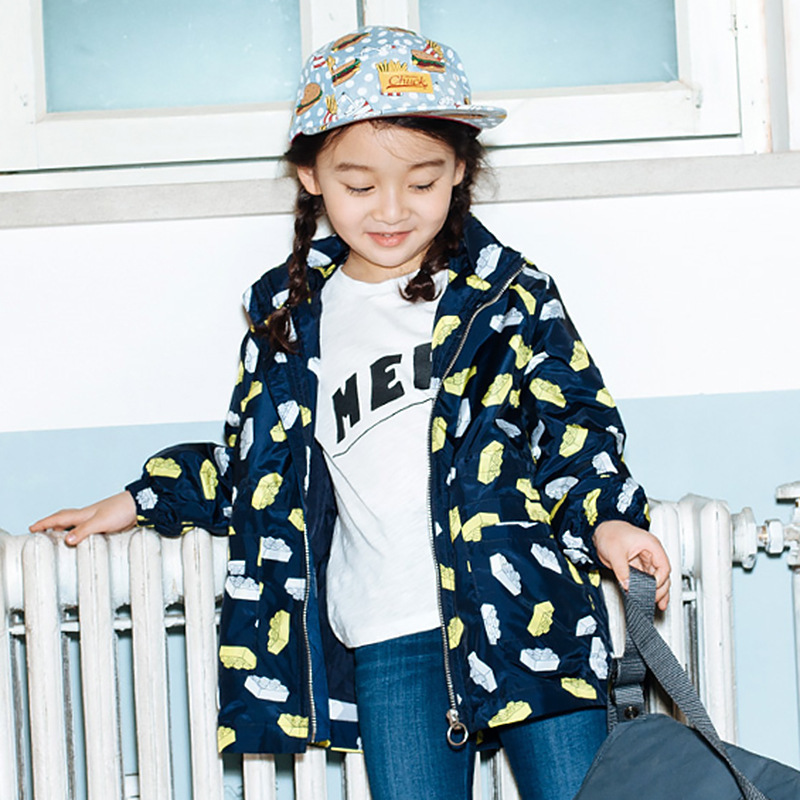 ФОТО Children Loose Coat Long Sleeve Korean Outdoor Sport Charge Clothes Children's Garment  Jackets Kids Clothing