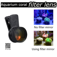 Aquarium coral cylinder photography lens sea filter Increase the color of cora with macro filter aquarium blue light